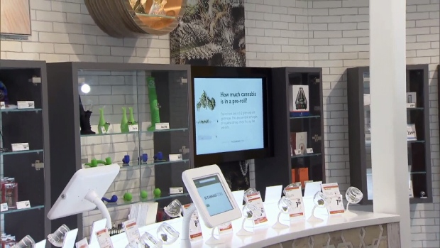 The BC Cannabis Store in Kamloops has been compared to an Apple Store, with its shiny white countertops and touchscreen browsing computers. Oct. 17, 2018.