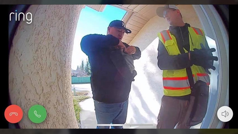 The two men Clem Ho captured on his Wedgewood Heights doorbell camera on Tuesday.