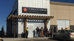 Fire and Flower Cannabis Co. in Yorkton, Sask. on legalization day. (STEPHANIE DAVIS/CTV REGINA)