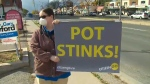 Pot protest outside Bill Blair's office