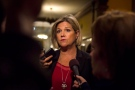 Ontario NDP Leader Andrea Horwath speaks to reporters at Queen's Park, in Toronto on Monday, Sept. 24, 2018. (THE CANADIAN PRESS/Christopher Katsaro)