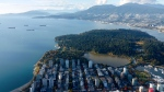 Vancouver's West End is seen in this photo from CTV's Chopper 9.