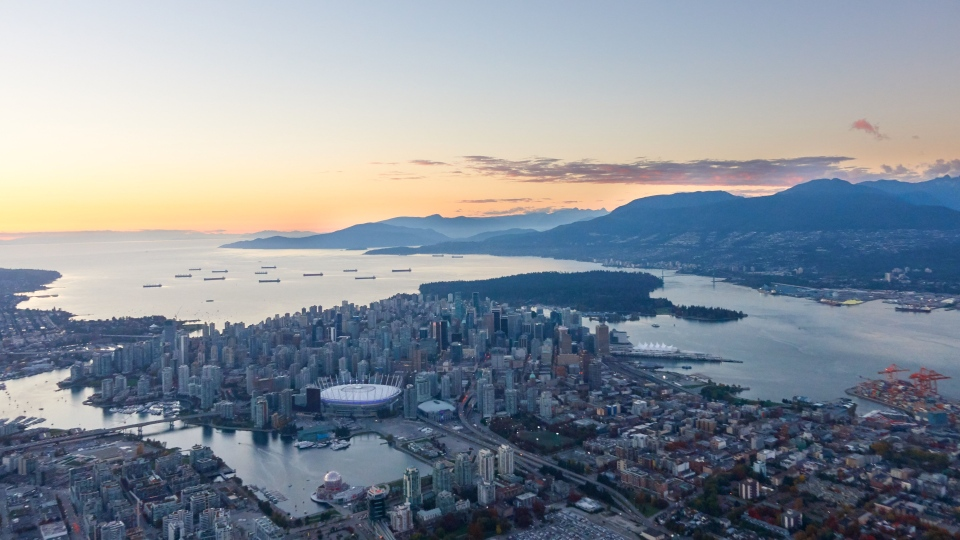 Vancouver skyline captured by Pete Cline