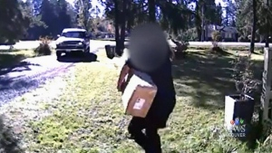 Woman says she caught parcel thief red-handed