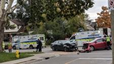 It happened on Courtland Avenue East at Cedar Street around 9 a.m.