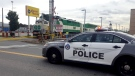 Police at the scene of a fatal crash between a GO Train and cyclist on the Stouffville Line on October 18, 2018.
