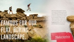 "An advertisement from the Nebraska Tourism Commission features the state's new tourism slogan ""Honestly, it's not for everyone."" (Nebraska Tourism Commission)"
