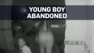 Doorbell camera captures woman abandoning boy