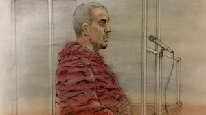 David Weaver is seen making a court appearance on. (CTV News Toronto / John Mantha)