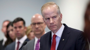 In this Aug. 29, 2018, file photo, U.S. Attorney William McSwain is shown at a news conference in Philadelphia. (David Maialetti/The Philadelphia Inquirer via AP, File)