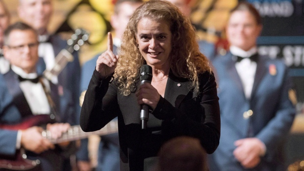 Governor General Julie Payette speaks at a reception at the Canadian Museum of History in Gatineau, Que., on Monday, Oct. 2, 2017. (THE CANADIAN PRESS/Justin Tang)