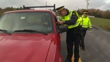 Mounties gave out pamphlets to educate motorists of what's legal, and illegal, about having cannabis in your car.
