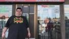 Jeffrey Lundstrom, owner of Skunk Funk Smoker's Emporium. (Saron Fanel/CTV Saskatoon)
