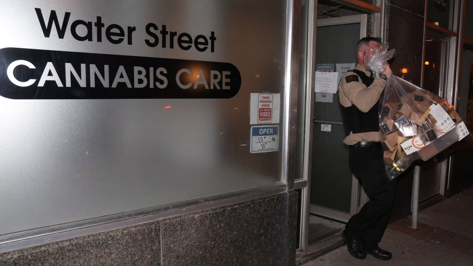 Cannabis Care, an unlicensed cannabis dispensary in St. John's N.L. was raided by the RNC and inspectors from the Newfoundland and Labrador Liquor Corp on Thursday, October 18, 2018.  THE CANADIAN PRESS/Paul Daly