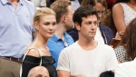 In this Sept. 6, 2018 file photo, Karlie Kloss, top left, and Joshua Kushner attend the semifinals of the U.S. Open tennis tournament at the USTA Billie Jean King National Tennis Center in New York.  (Photo by Greg Allen/Invision/AP, File)