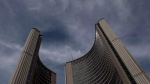 The exterior of City Hall in downtown Toronto is seen. THE CANADIAN PRESS/Chris Young