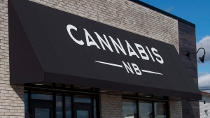 The Cannabis NB location in Sackville, N.B. is seen on Sunday, Oct. 14, 2018. (THE CANADIAN PRESS/Andrew Vaughan)