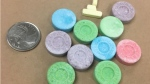 Saskatoon police seized Xanax made to look like candy. (Courtesy Saskatoon Police Services)