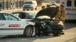 Two vehicles were involved in a crash on Friday morning.