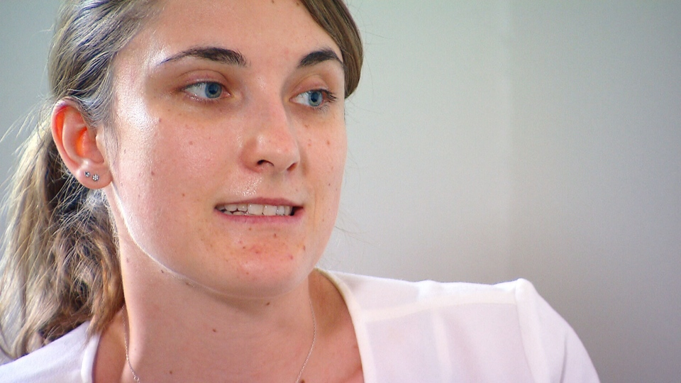 "Gwendoline Prudhomme, 25, said she developed a ""shooting, stabbing pain"" in her eyes one year after her Lasik procedure in Vancouver in 2016 (W5)."