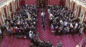 Ten PQ MNAs were sworn in at the National Assembly Friday, tweaking their oath to the Queen.