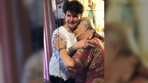 Reunited with birth mother after 64 years