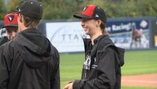 Woman stars for Carleton men's baseball team