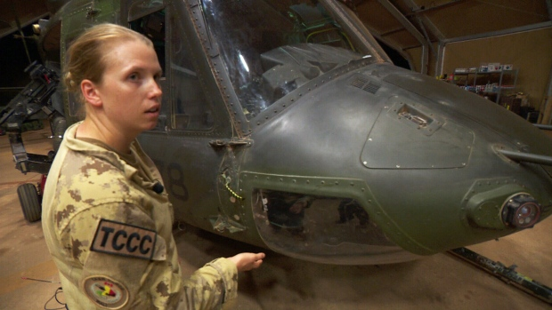 Cpl. Nicole Reid is part of Canada's peacekeeping mission in Mali, where she works as an aviation technician.