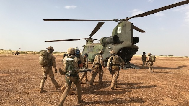 The primary objective for Canadian military personnel is to provide medical evacuations of injured peacekeepers using three Chinook and five Griffon helicopters. (CTV / Omar Sachedina)