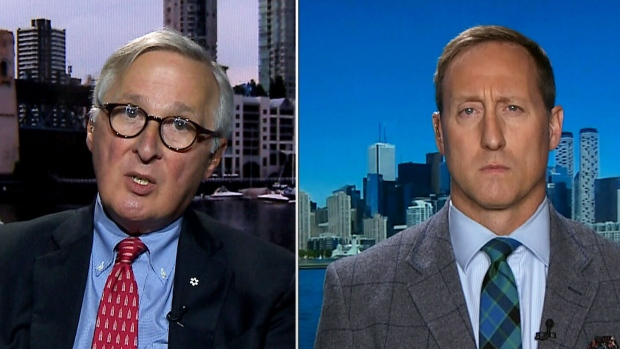 Former CSIS Director Dick Fadden (left) and former Conservative Defence Minister Peter MacKay speak to CTV's Question Period.