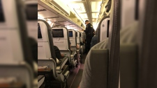 Icelandair says one of its planes made an emergency landing in Quebec late Friday night because of a cracked cockpit window. (Harrison Hove / wuft news)