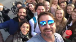 Guelph students run into Gerard Butler.