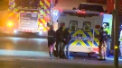 A man suffered minor injuries in a random attack in southwest Calgary early Saturday morning.