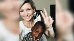 Kimberlee Moran and her two-year-old son are waiting in Ghana for his Canadian citizenship paperwork to be processed. (Kim Moran / Instagram)
