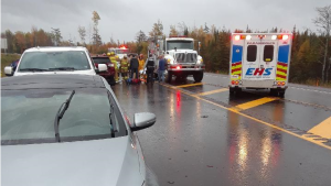 Three people have died following a collision in Dagger Wood, N.S. Saturday afternoon.