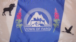 The Town of Faro flag is seen in this 2014 Facebook photo. (Town of Faro/Facebook)