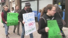 Protesting cuts to Green Energy Projects