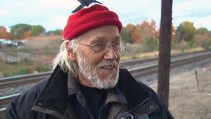 Joe Krupa speaks to CTV Toronto after CP Rail razed his Mississauga, Ont. garden. (CTV Toronto)