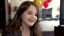 Jayda Suttie, 11, speaks to CTV Vancouver about meeting her idol, Ellen DeGeneres. (CTV Vancouver)