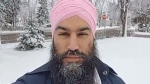 Federal NDP Leader Jagmeet Singh speaks to CTV News from Kapuskasing, Ont. on Oct. 20, 2018. (CTV News)