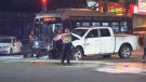 three-vehicle collision in vancouver