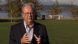 Doug McCallum is pictured during an interview with CTV News Vancouver.