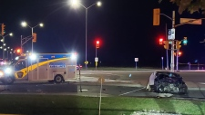 One person is dead following a collision near Castlemore Road and Highway 50 in Brampton. (Photo: Gary S.)