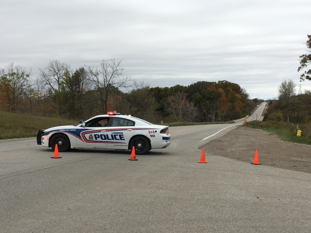 Police have closed Clarke Road on Sunday, Oct. 21, 2018 after a pedestrian was hit and died.