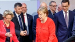 German Minister of the Environment Svenja Schulze, German Chancellor Angela Merkel and Polish Prime Minister Mateusz Morawiecki attended the Petersberg Climate Dialogue, which included discussing the future of funding for the Green Climate Fund, in Berlin, Germany, 19 June 2018. EPA/Carsten Koall / POOL