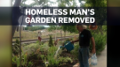 CP Rail bulldozes homeless man's garden