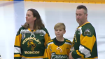 Friends honoured for Humboldt strong campaign.