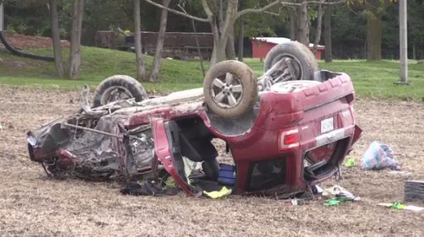 Single-vehicle crash