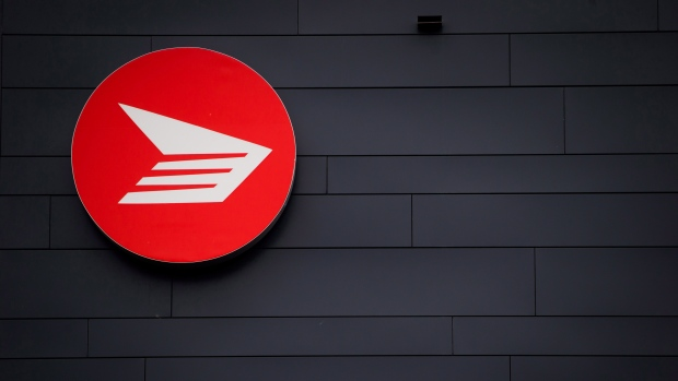 The Canada Post logo is seen on the outside the company's Pacific Processing Centre, in Richmond, B.C., on June 1, 2017 (THE CANADIAN PRESS/Darryl Dyck)