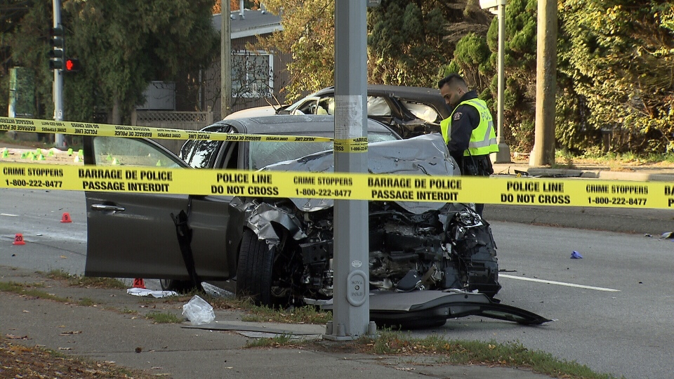 Collision seriously injures three in Surrey | CTV News